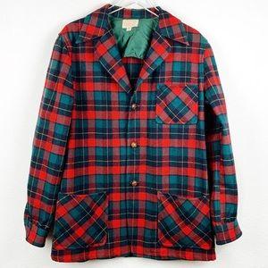Vintage Pendleton Wool Plaid 49er Chore Coat